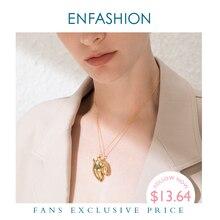 ENFASHION פאנק גוף חלק 3D ירך קולר שרשרת נשים זהב צבע ישבן מיוחד היפ הופ Femme תכשיטי מתנות Collares P193024