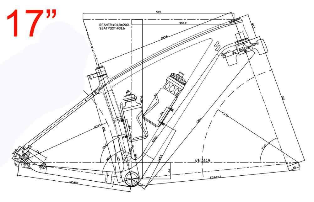 "Toray Carbon Ud Matt Schijfrem Frame Mountainbike Fiets 29ER Frame Mtb (15 "" / 17"" / 19 "")"