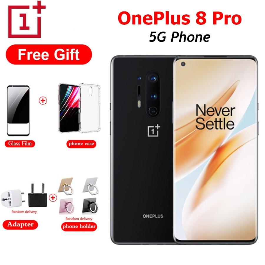 OnePlus 8 Pro-SmartPhone 5G, Dual SIM, 8 GB/12 GB de RAM, 128 GB de ROM, Snapdragon865, Pantalla Completa de 256 pulgadas, cámara de 48MP, batería de 6,78 mAh, NFC, Android