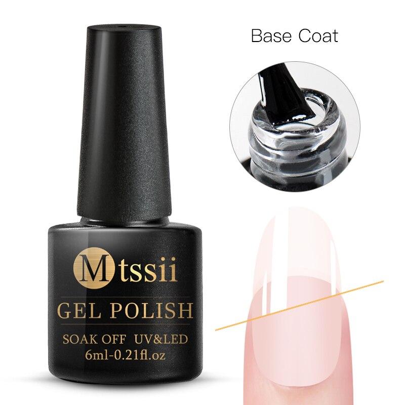 Mtssii  6ml Nail Gel Eggshell Gel Nail Polish Transparent Gel Soak Off Nail Art Gel  UV LED Varnish With Any Color Base Top Coat 27