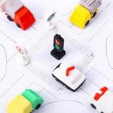 4pcs Traffic light truck Rubber Suit student Eraser set gifts festival gift office supplies random design