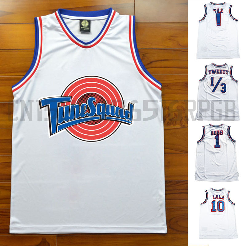 Tank-Tops Basketball-Jerseys Lola Bugs Throwback Taz Movie Tune Squad College Retro Stitched