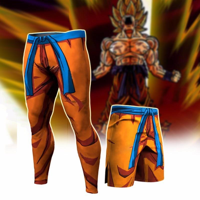 Fashion  Dragon Ball Design Compression Pants Men Women Quick Dry 3D Tight Trousers Male Fitness Goku Pant Man Drop Ship