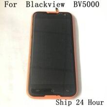 شاشة عرض LCD مستعملة أصلية Blackview BV5000 + شاشة لمس + سماعة استقبال للهواتف الذكية Blackview BV5000 شحن مجاني