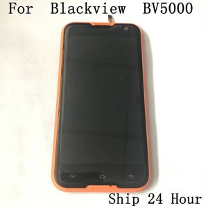 Image 1 - Original Blackview BV5000 Used LCD Display+Touch Screen+Receiver Speaker For Blackview BV5000 Smartphone Free shipping
