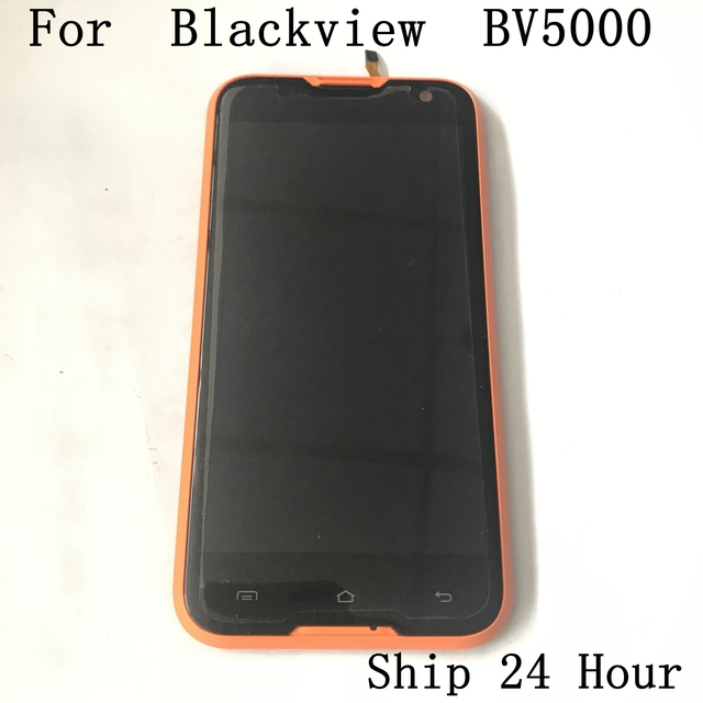 Original Blackview BV5000 Used LCD Display+Touch Screen+Receiver Speaker For Blackview BV5000 Smartphone Free shipping