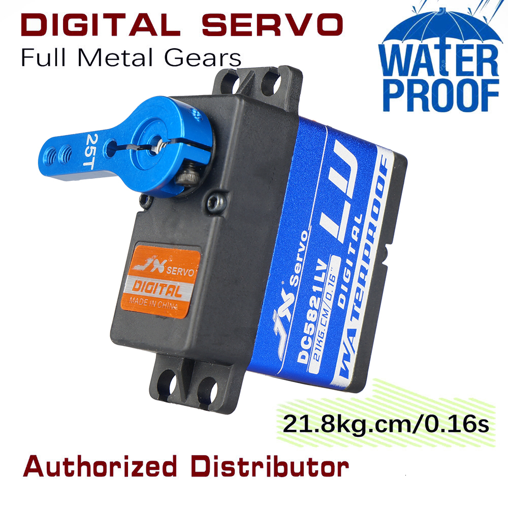 Waterproof Metal Gear JX DC5821LV 20KG Large Torque Digital Coreless Servo for RC Car TRAXXAS Crawler TRX4 baja boat Robot arm