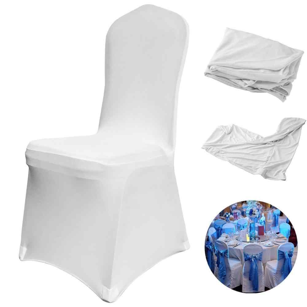 pour chaise mariage VEVOR manger chaise à Spandex fête 50 Stretch couvre pièces Polyester housses Banquet Spandex couverture blanc pièces100 QroCxeWdB