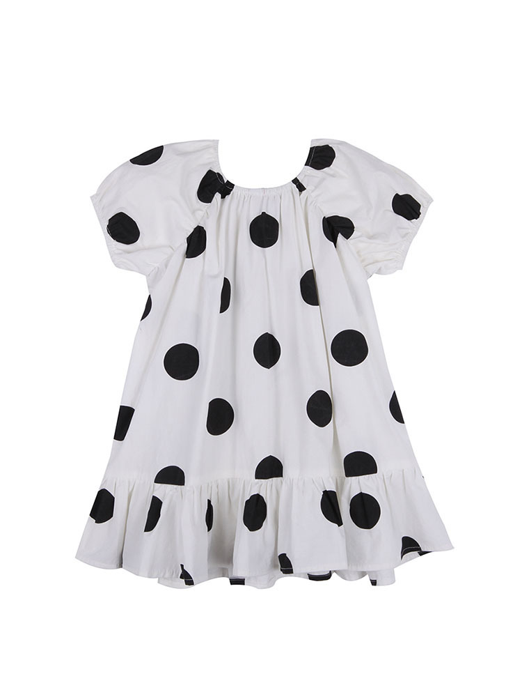 2021 Summer New Arrival Girls Fashion Dot Dress Kids Cotton Back Bow Dresses  Kids Dresses for Girls 5