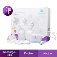 Portable Rechargeable Electric Breast Pump Double Extractor Breast Milk Pump With Baby Milk Bottle BPA Free
