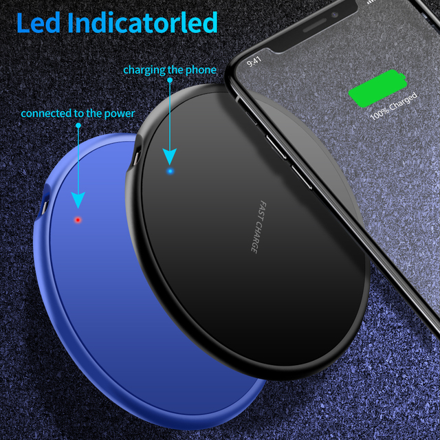 10W Wireless Charger For Samsung Galaxy S20 S10 Note 10 Fast Qi Charger Wireless Charging Pad for iPhone 11 Pro X XS Max 8 Plus