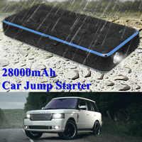 GKFLY impermeable 28000mAh Car Jump Starter Power Bank 12V 1000A dispositivo de inicio portátil cargador de coche para gasolina 8.0L Diesel 6.0L