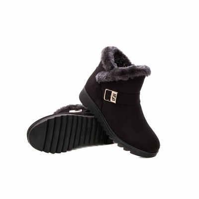 Kadın Kar Botları Sıcak Kısa Kürk Peluş Kış bileğe kadar bot Artı Boyutu Platformu Bayanlar Süet Zip Ayakkabı Kadın Konfor Damla Nakliye