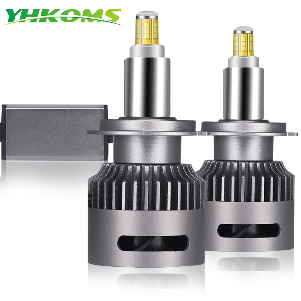 YHKOMS 2 Pcs 20000LM Canbus H7 <font><b>LED</b></font> Car Headlight H1 H8 <font><b>H9</b></font> H11 <font><b>LED</b></font> Bulb 9005 9006 9012 3D <font><b>360</b></font> Degree Automotive Fog Lights 12V image