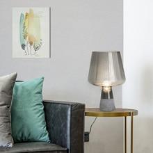 Nordic LED Cement Decor Glass Table Lights Lighting Modern Design Living Room Bedroom Bedside Lamp Study Desk Lamp Study Lamps все цены