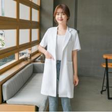 Korean version of the doctor dress oral dental white gown cosmetic skin management short sleeve overalls custom LOGO