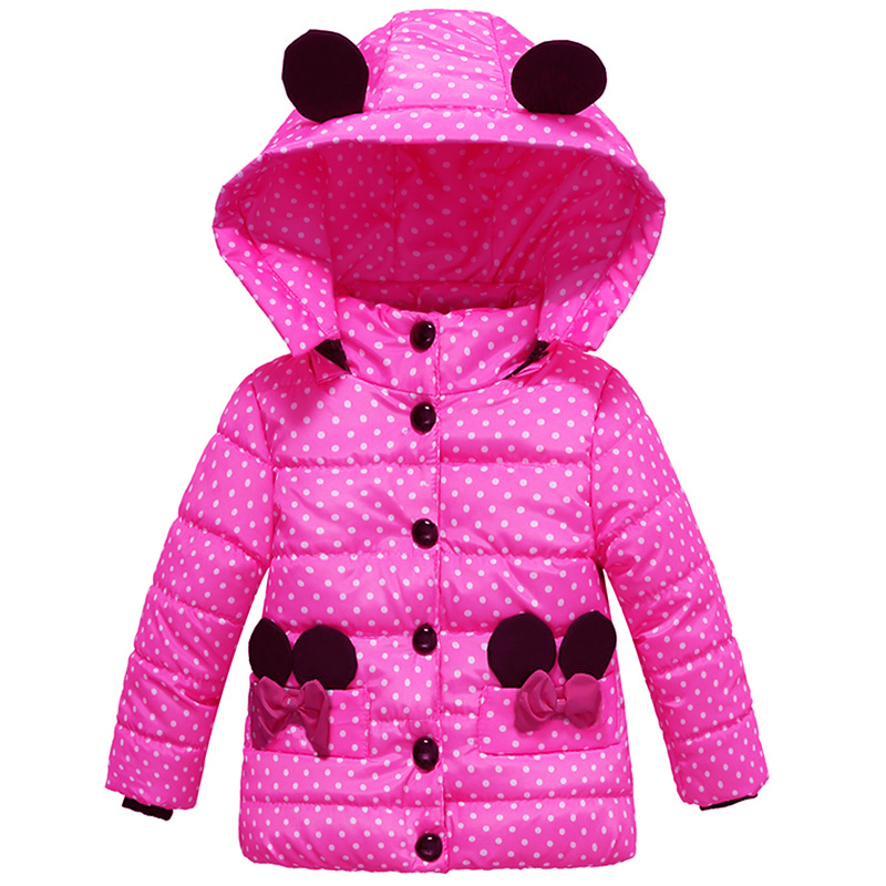 Детское шерстяное пальто в горошек, с хлопковой подкладкой
