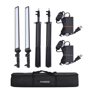 Image 5 - Andoer Kit de estudio de iluminación de vídeo, Kit de luz Led para estudio fotográfico, luz de relleno de mano regulable con soporte de luz 36w 5500K CRI90 +