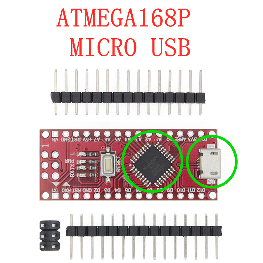 Nano с Загрузчиком совместимый Nano 3,0 контроллер для arduino CH340 USB драйвер 16 МГц Nano v3.0 ATMEGA328P/168 P - Цвет: Red-ATMEGA168