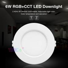 Miboxer 6W RGB+CCT LED Downlight FUT068 Round  AC 100V-240V Brightness adjustable smart Ceiling Spotlight