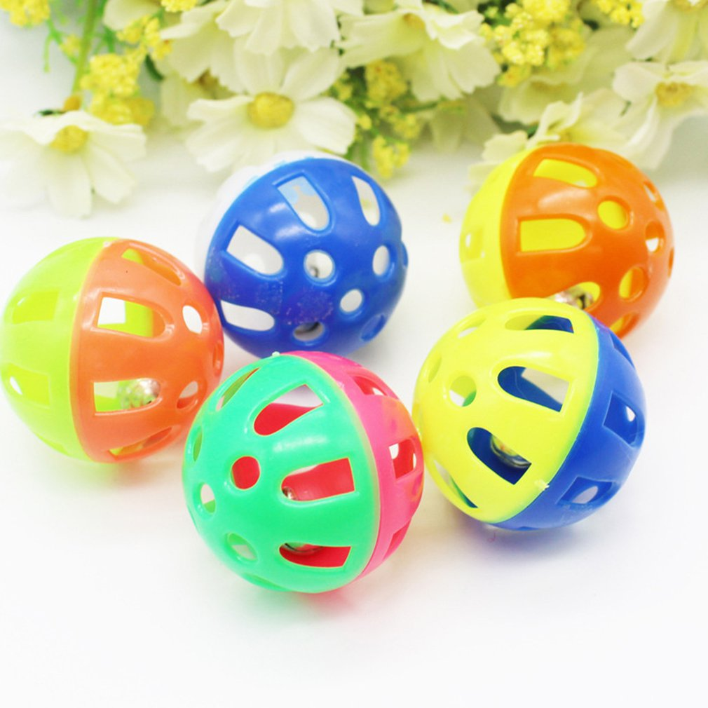 Pet Dog Toys Sound Squeak Toys Plastic Bell Ball Antidepressant Toy For Small Dogs Portable Pet Supplies in Dog Toys from Home Garden