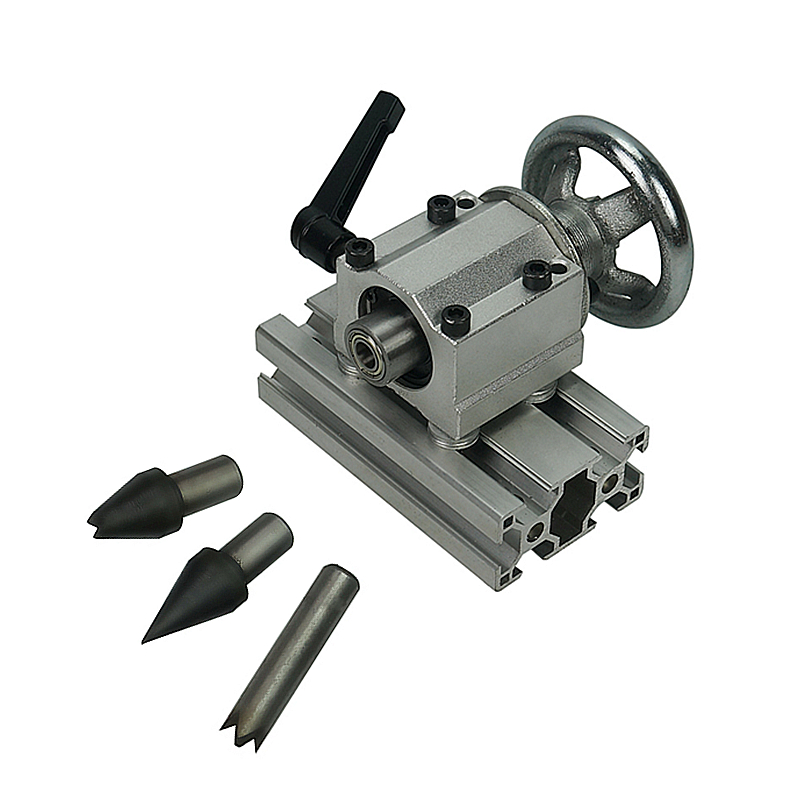 CNC Tailstock Center Height 55mm With Tail Center 3pcs For Rotary Axis 4th A Axis Engraver Milling Machine