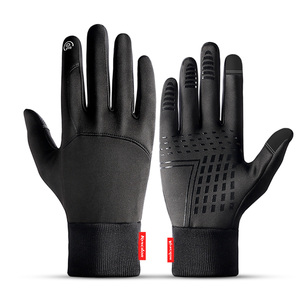 Hot Sale Winter Outdoor Sports Running Glove Warm Touch Screen Gym Fitness Full Finger Gloves For Men Women Knitted Magic Gloves(China)