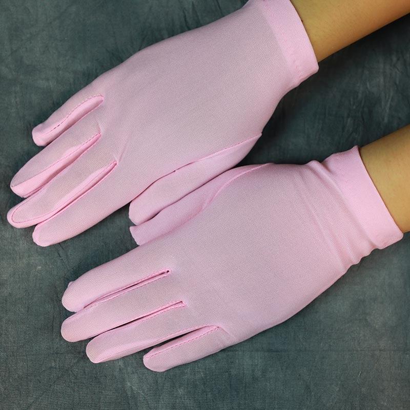 New Arrival Girls Dance Gloves Wrist Length Short Woman Wedding Gloves Finger Red/Black/White Bridal Wedding Gloves ST211