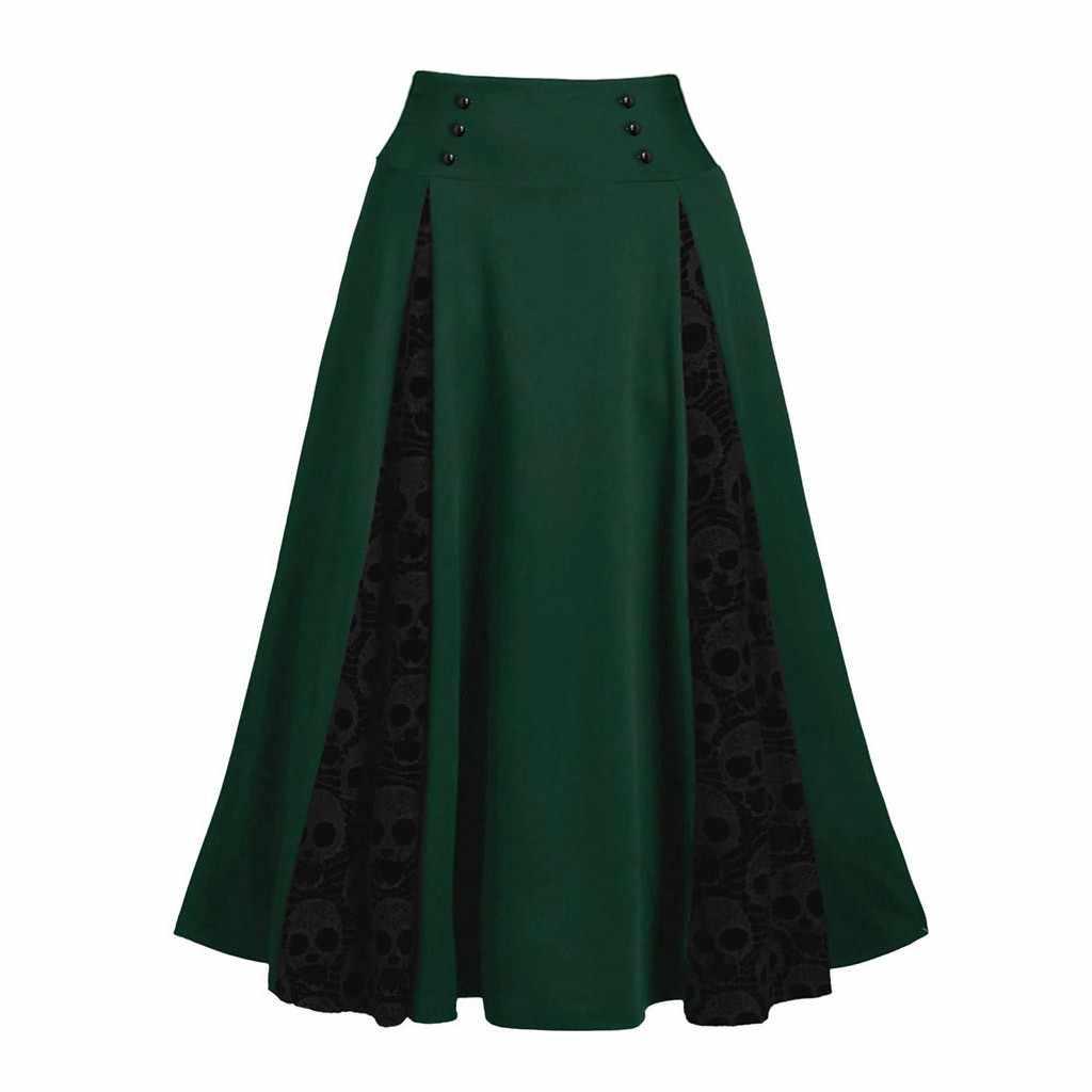 Kostuums Steampunk Gothic Rok Kant Patchwork Vrouwen Kleding Hoge Lage Party Rokken Lolita Middeleeuwse Victoriaanse Gothic Punk Rok