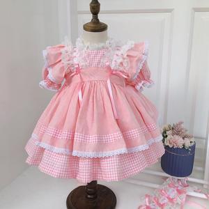 Испанское платье принцессы в стиле Лолиты для девочек; Одежда для маленьких девочек; Кружевное платье с пышными рукавами; Платье для дня рож...