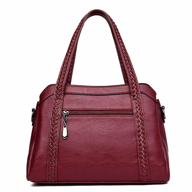 Vrouwen handtas PU Lederen tassen vrouwen 2019 nieuwe mode kwastje luxe vrouwen schoudertassen dames lederen zip handtassen vrouwen tassen