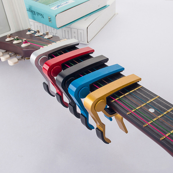 8x7cm guitarra ultraligera Capo ukelele guitarra eléctrica Metal Capo hogar instrumento Musical guitarra accesorios guitarra regalo
