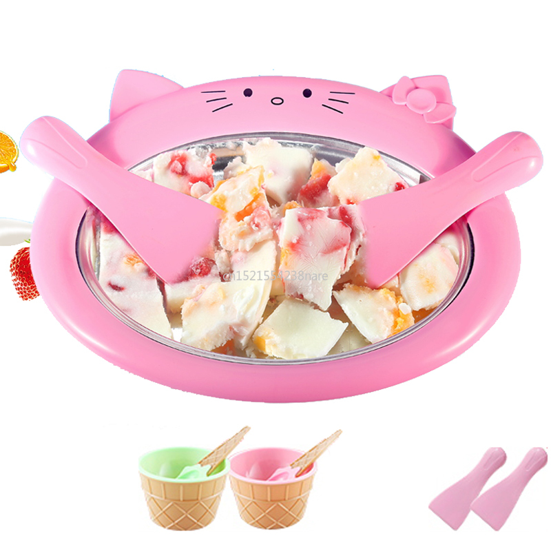 Cartoon Mini Ice Cream Maker Fried Yogurt Machine Summer Cool Ice Cream Maker Ice Cream Roller Rolling Machine For Kids Children