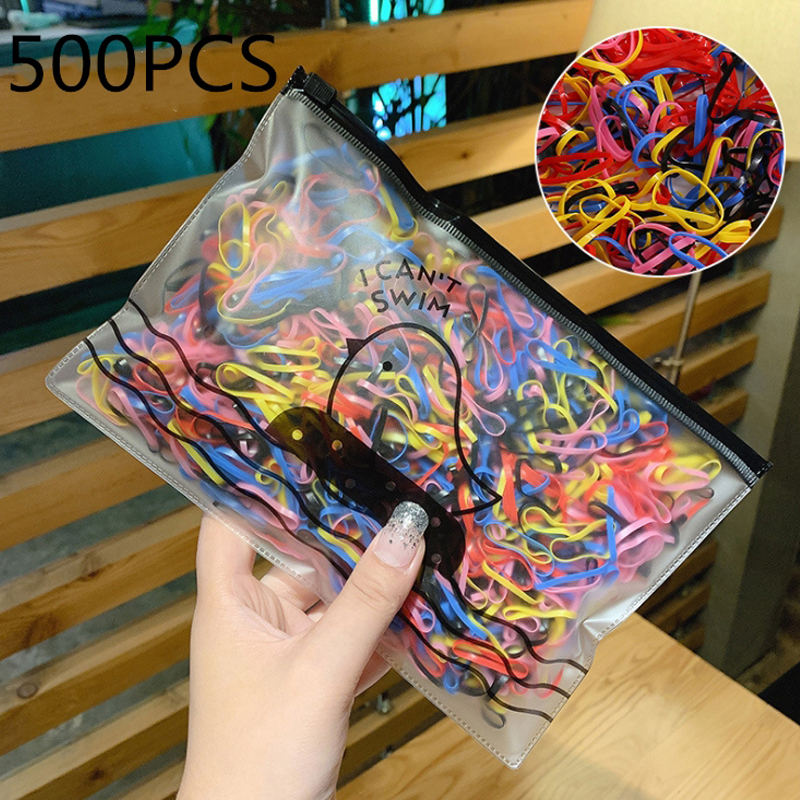 100/50/20Pcs/Pack Girl Colorful Scrunchie Elastic Hair Band Children Hair Gum Cute Ponytail Holder Rubber Band Hair Accessories