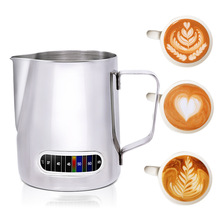 Frothing-Pitcher Coffee Milk Built-In-Thermometer Stainless-Steel Christmas-Gifts