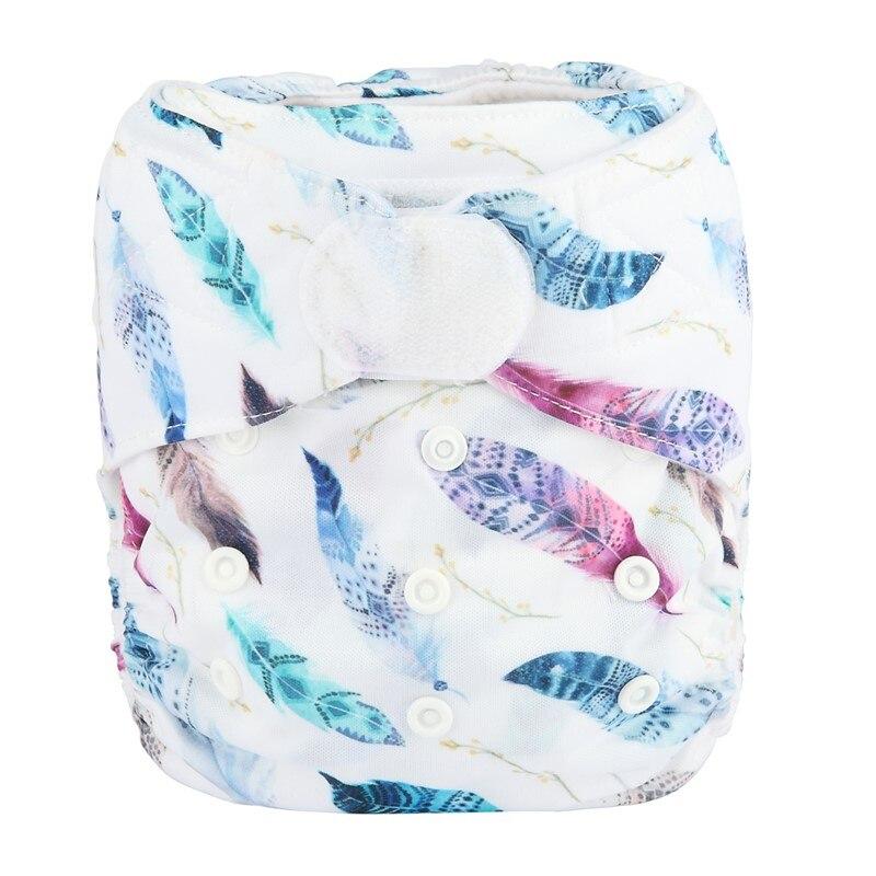 [Sigzagor] 1 тканевый подгузник с карманами для детей, подгузник с застежкой-липучкой, с широкими полосками на талии - Цвет: DV26