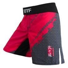 Shorts Boxing Fight-Muaythai Bushido Clothing Tiger MMA Fitness Suotf Soft May Red Men