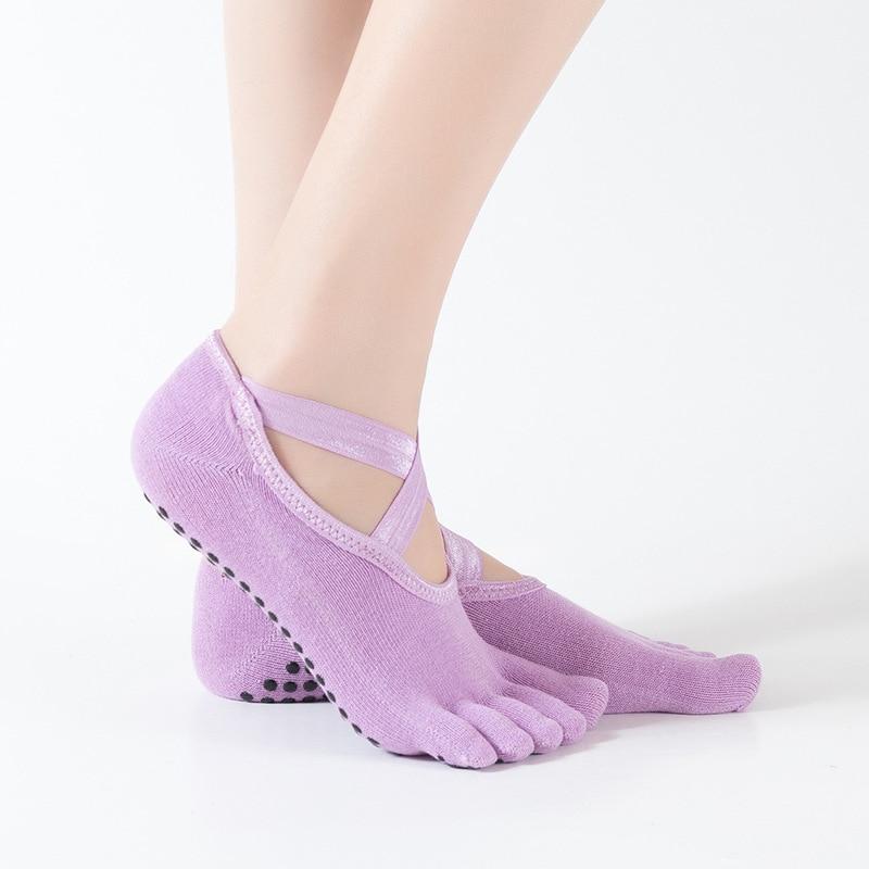 2 pares de meias de yoga profissional