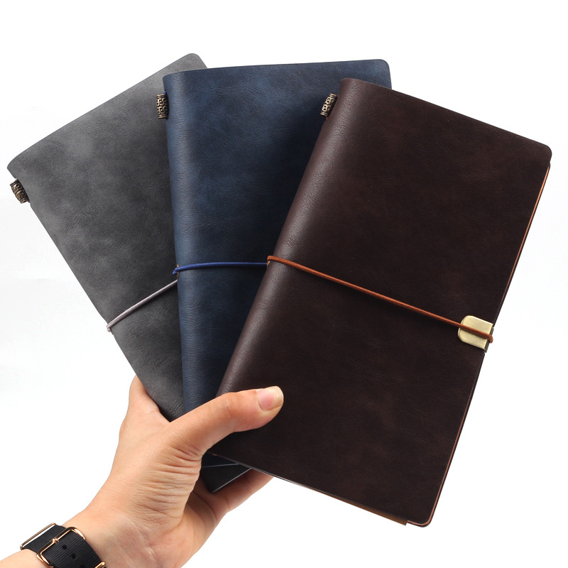 Retro Business Spiral Padfolio Journal Traveler Notebook PU Leather Planner Diary DIY Pocket Size(China)