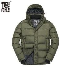 Tigre força jaqueta de inverno masculino acolchoado casaco dos homens parka primavera outono quente jaqueta masculina casual casacos com capuz outerwear