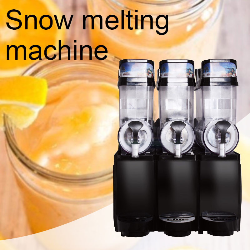 Three-cylinder Large Capacity Snow Mud Machine Commercial Multifunction Cold Drink Machine Beverage Machine Snow Melting Machine