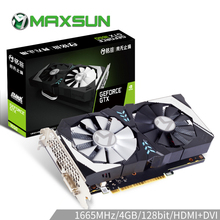 MAXSUN Graphic card gtx 1650 Terminator 4G GDDR5 NVIDIA 128bit Turing TU117 75W 12nm HDMI DVI 8000MHz 1485MHz gtx1650 video card