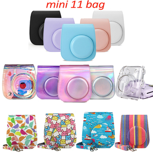 Fujifilm Instax Mini 11 Camera Accessory Artist Oil Paint PU Leather Instant Camera Shoulder Bag Protector Cover Case Pouch