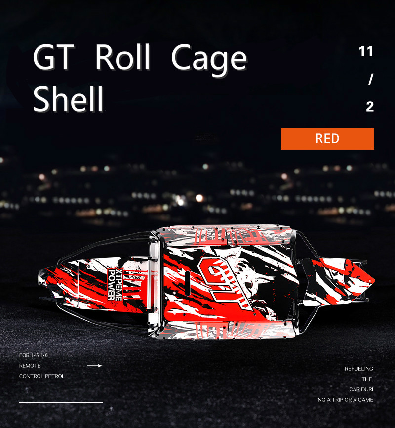 GT Roll Cage with Body Shells for HPI 5B Baja GT Upgrade Parts  RC Car Spare Part High Quality Metal Red Color