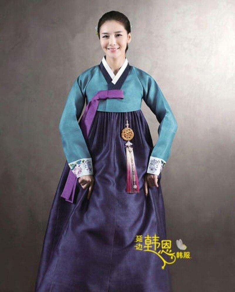 Fashion Beautiful Hanbok Dress Custom Made Korean Traditional Woman Hanbok Korean National Costume Clothes Handmade
