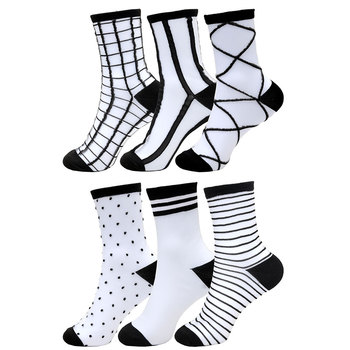 Casual Hollow Mesh Socks Fishnet Socks Women Summer Fashion Rainbow Striped Socks Lace Breathable Socks Fuzzy Socks striped trim socks