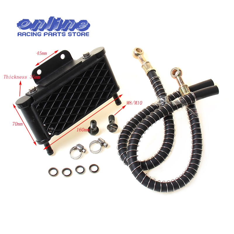 Oil Cooling Cooler Radiator for 50 70 90 110 125 Horizontal Engine Chinese Dirt Pit Monkey Bike ATV Motorcycle KAYO APOLLO BSE image