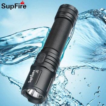 Supfire J6 Military LED Flashlight Glare Self-Defense Torch Light Adventure Camping Searchlight USB Rechargeable Portable Lamp 6