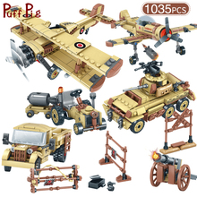 Military World War 2 SWAT Germany Car Plane Helicopter Tank Truck Building Blocks Legoingly Figures Army Brick Toys For Children 957 pcs 4 in 1 legoingly ww2 germany tank army toy blocks military vehicles world war 2 toys for children