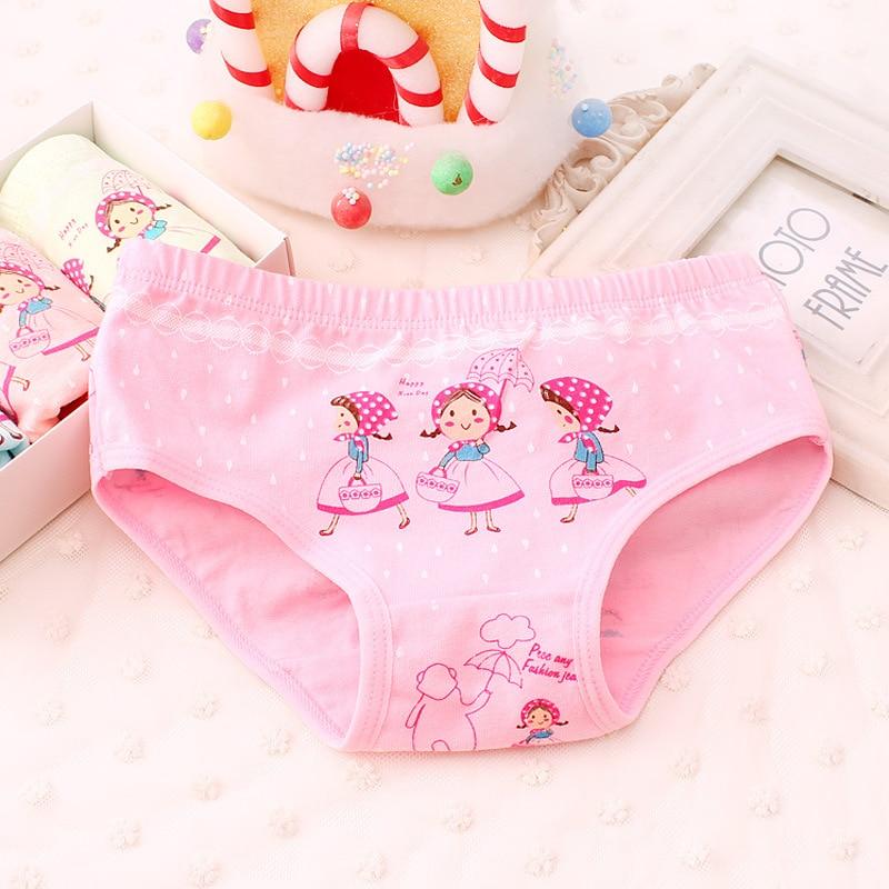 3-10yrs criança meninas calcinha de algodão crianças dos desenhos animados briefs roupa interior para crianças bebê cueca